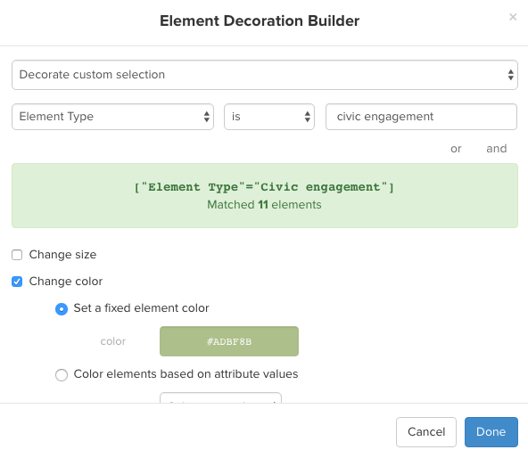 element decoration builder